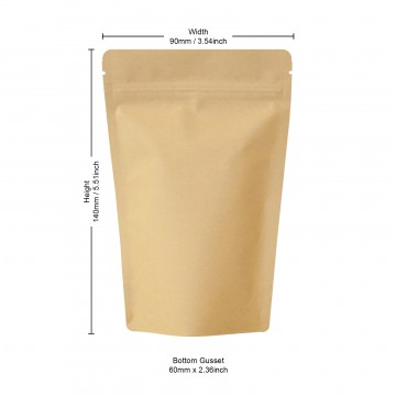 50g Kraft Paper Stand Up Pouch/Bag with Zip Lock [WP1]