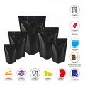 750g Matt Black With Valve Stand Up Pouch/Bag with Zip Lock [SP11]