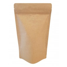 1kg Kraft Paper With Valve Stand Up Pouch/Bag with Zip Lock [SP6]