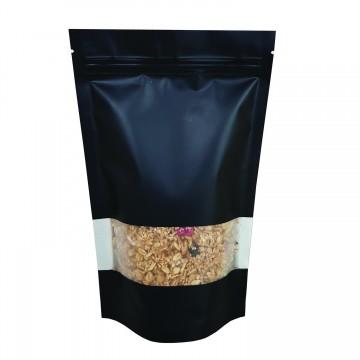 5kg Window Black Matt Stand Up Pouch/Bag with Zip Lock [SP8]