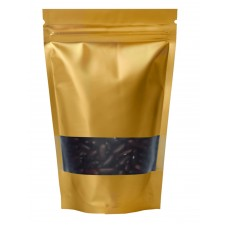 250g Window Gold Matt Stand Up Pouch/Bag with Zip Lock [SP4]