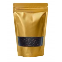 500g Window Gold Matt Stand Up Pouch/Bag with Zip Lock [SP5]