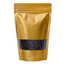 500g Window Gold Matt Stand Up Pouch/Bag with Zip Lock [SP5]