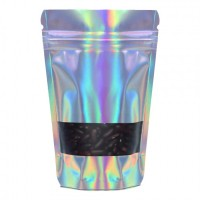 500g Window Holographic Stand Up Pouch/Bag with Zip Lock [SP5]