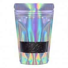750g Window Holographic Stand Up Pouch/Bag with Zip Lock [SP11]