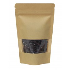 100g Window Kraft Paper Stand Up Pouch/Bag with Zip Lock [SP9]