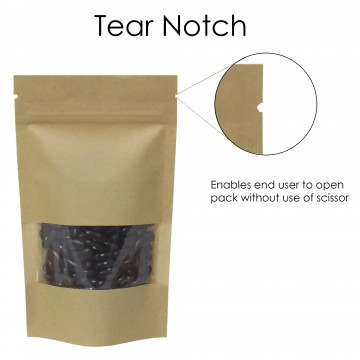 3kg Window Kraft Paper Stand Up Pouch/Bag with Zip Lock [SP7]
