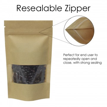 40g Window Kraft Paper Stand Up Pouch/Bag with Zip Lock [SP1]