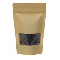 500g Window Kraft Paper Stand Up Pouch/Bag with Zip Lock [SP5]