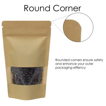 750g Window Kraft Paper Stand Up Pouch/Bag with Zip Lock [SP11]