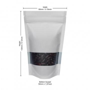 40g Window White Matt Stand Up Pouch/Bag with Zip Lock [SP1]