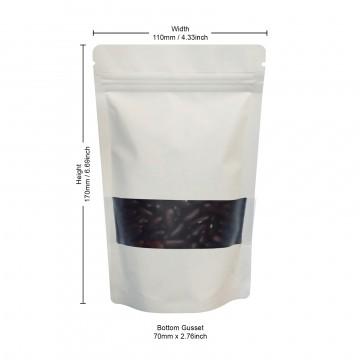 70g Window White Matt Stand Up Pouch/Bag with Zip Lock [SP2]
