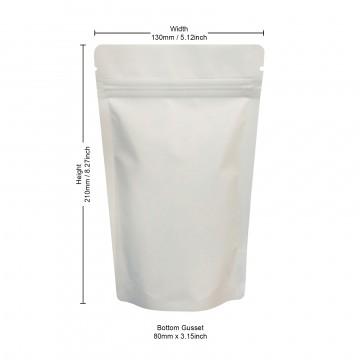 150g White Matt Stand Up Pouch/Bag with Zip Lock [SP3]
