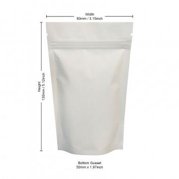40g White Matt Stand Up Pouch/Bag with Zip Lock [SP1]