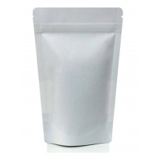 1kg White Paper Stand Up Pouch/Bag with Zip Lock [SP6]